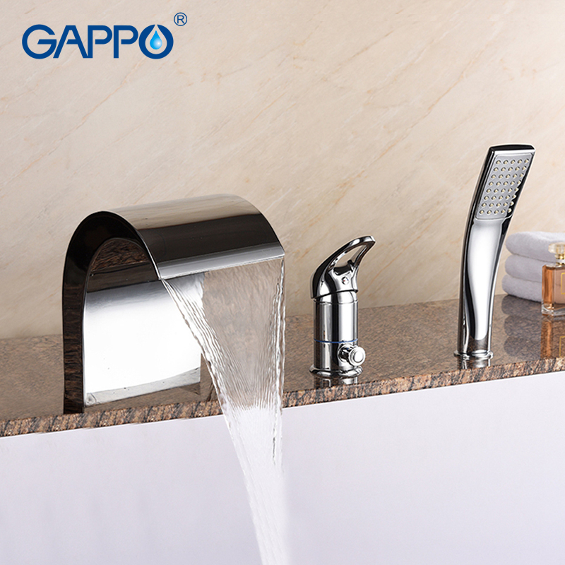 GAPPO Bathtub Faucet bathroom shower faucet tap bath shower waterfall bathtub rainfall faucet water mixer sink taps baolinlong classic styling brass bathroom shower faucet bathtub faucet tap bath shower set waterfall bathtub sink faucet water