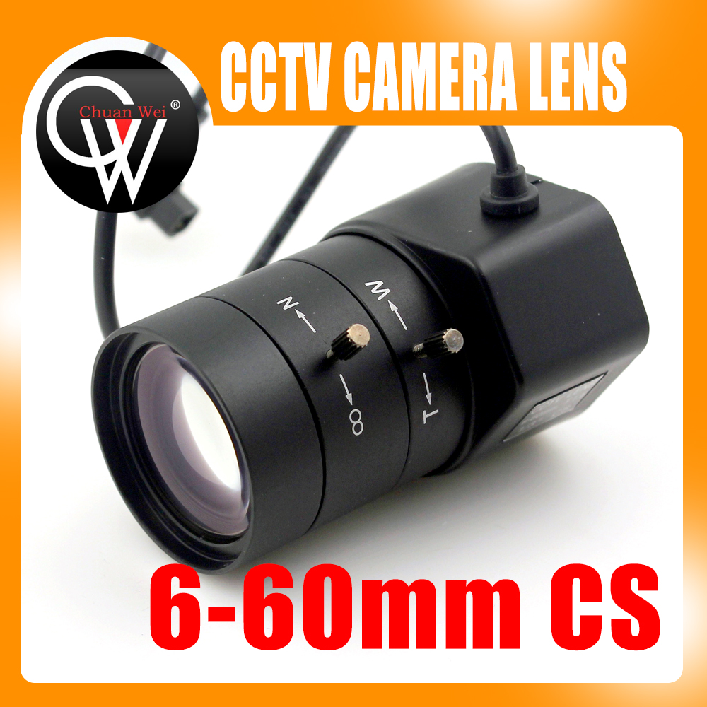 1.3MP 1/3 6-60mm F1.6 CS Mount DC Auto Iris Varifocal IR CCTV Lens for Box Body Camera 8mm 12mm 16mm cctv ir cs metal lens for cctv video cameras support cs mount 1 3 format f1 2 fixed iris manual focus