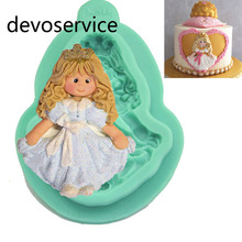 Здесь можно купить  3D Cute Girl Silicone Mold Cake Chocolate Cake Mold Kitchen Tools Baking Decorating Tool Turn Sugar Mold Cookies Moulds Fondant