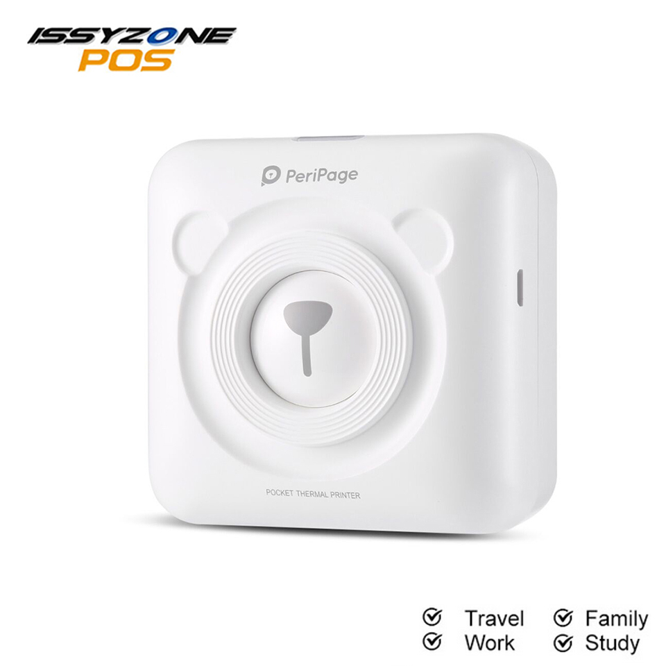 PeriPage Portable Thermal Bluetooth Photo Printer Mini Pictures Printer For Mobile Android iOS Phone 58mm printer Christmas gift image