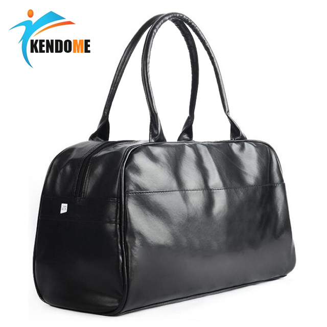 Top PU Leather Men s Sports Training Bags Gym Bags Classic Sports HandBags  Fitness Multifunction Bags Outdoor Travel Bag ad8064e66