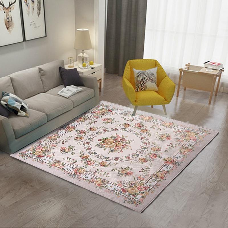 Tapis moderne européen haut de gamme tapis de fleurs classiques pour toujours couverture haute densité chenille tapis 1kg par mètre carré