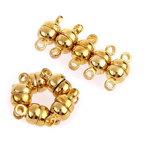 50 X золотой тон металла Цепочки и ожерелья Браслет Магнитная застежка Мода