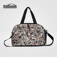 Dispalang Mens Travel Bags Stone Print Large Capacity Men Luggage Bags Travel Duffle Handbags Womens Weekend Shoulder Bags