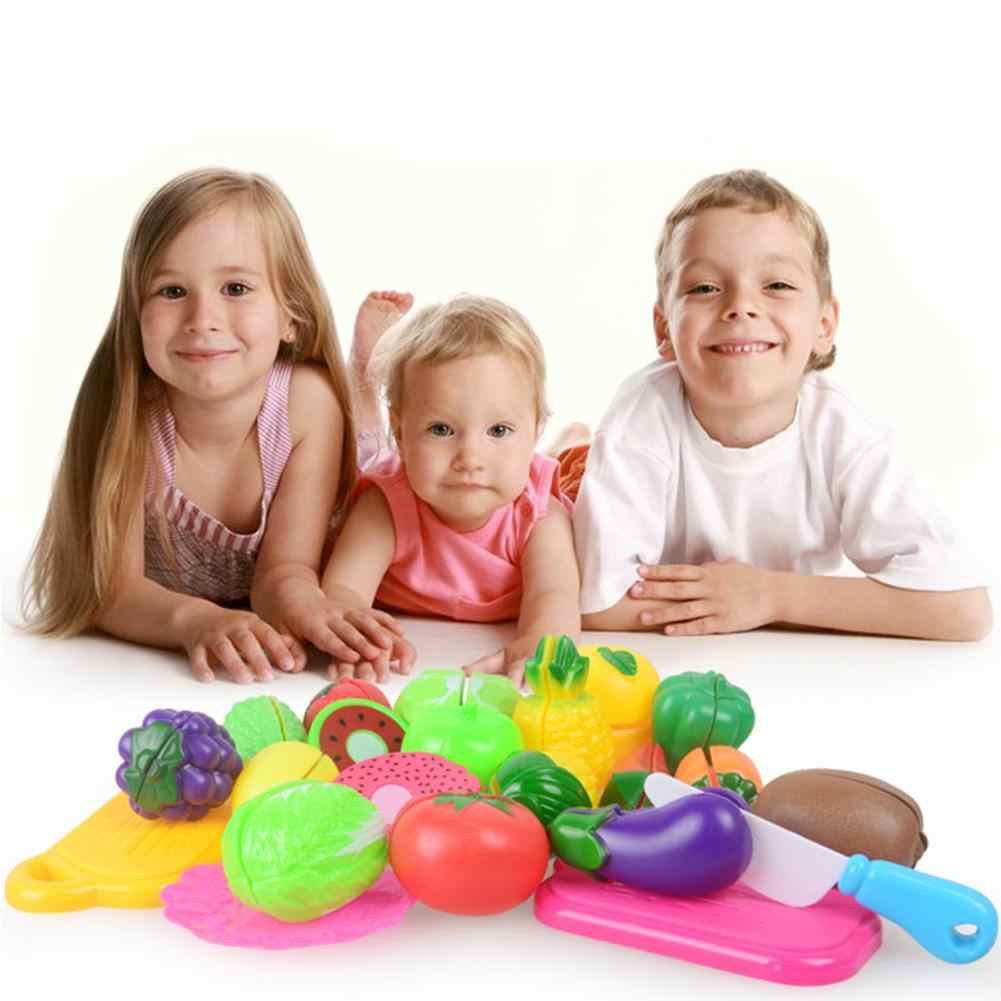 Child Kids Reusable Pretend Role Play Cooking Fruit Vegetable Food Cutting Toys for children Girlls gift