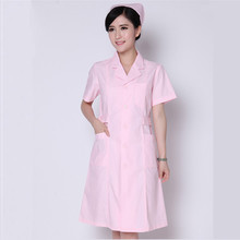 New style nurses wear short-sleeved spring and summer powder white coat doctors and nurses clothing beautician Yuesao overalls