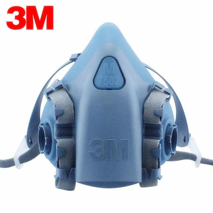 3M 7502 Half Facepiece mask Medium gas mask Industry Painting Spray Dust Gas Mask 3m 7502 half facepiece respirator painting spraying gas mask safety work filter dust mask