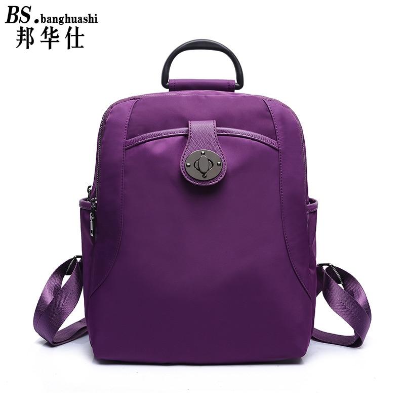 2017 fashion women s backpack Oxford cloth bag youth girls shoulder bag travel daily backpack Bolsas