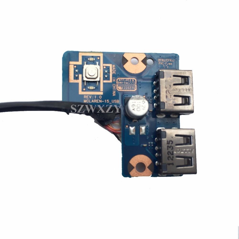Samsung NP550P5C USB Power Button Board w//Cable BA92-09761A