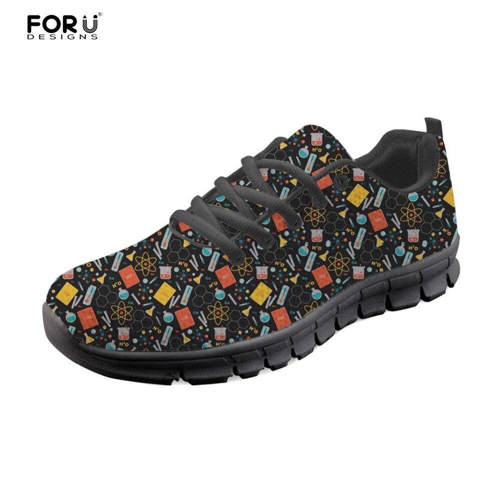 h8536aq Appartements Chaussures 2018 Sneakers b Lumière Casual Forudesigns h8537aq Marche b Poids Custom Femmes aq Confort b Motif b Femme Mode Scientifique h8538aq Pour De xpwEZqIEH