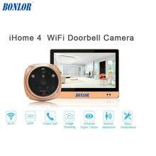 "BONLOR(1 Set) The Newest Wifi/Wireless Peephole Doorbell with Camera Door Viewer 7"" LCD Display+Movement Detect+IR Night Vision"