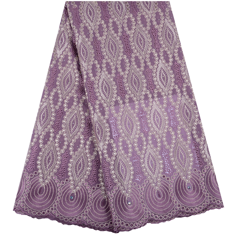 New Design Hot Sale Nigerian Lace Fabric Onion Fashion African Kano Cotton Swiss Voile Lace In