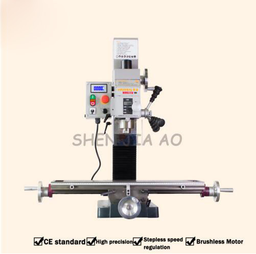 Small Drilling and Milling Machine DC without Rinse Motor Industrial Desktop High Speed Drilling and Milling Machine WMD25V
