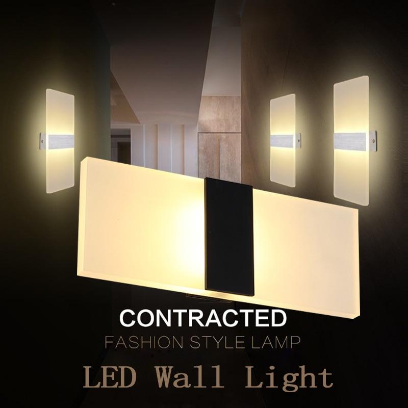 Laimaik современные светодиодные лампы на стенах AC110V/220 В светильник led акрил настенный светильник Настенный 3 Вт 6 Вт 9 Вт 12 Вт wandlamp Ванная комната светодиодный настенный светильник