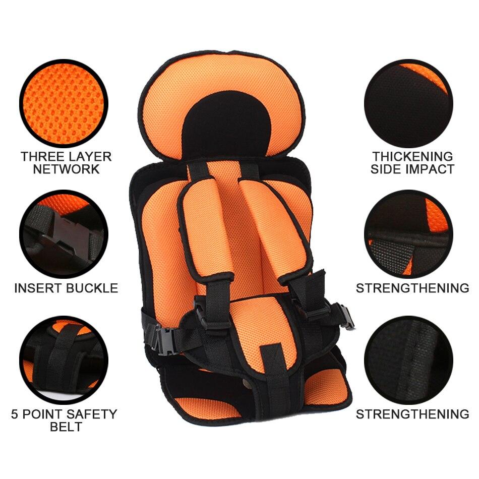 1 шт. удобный детский коврик для сидения, Детские Портативные дорожные подушки для стульев с ремнем безопасности, коврики для сидения для малышей в возрасте От 6 месяцев до 12 лет