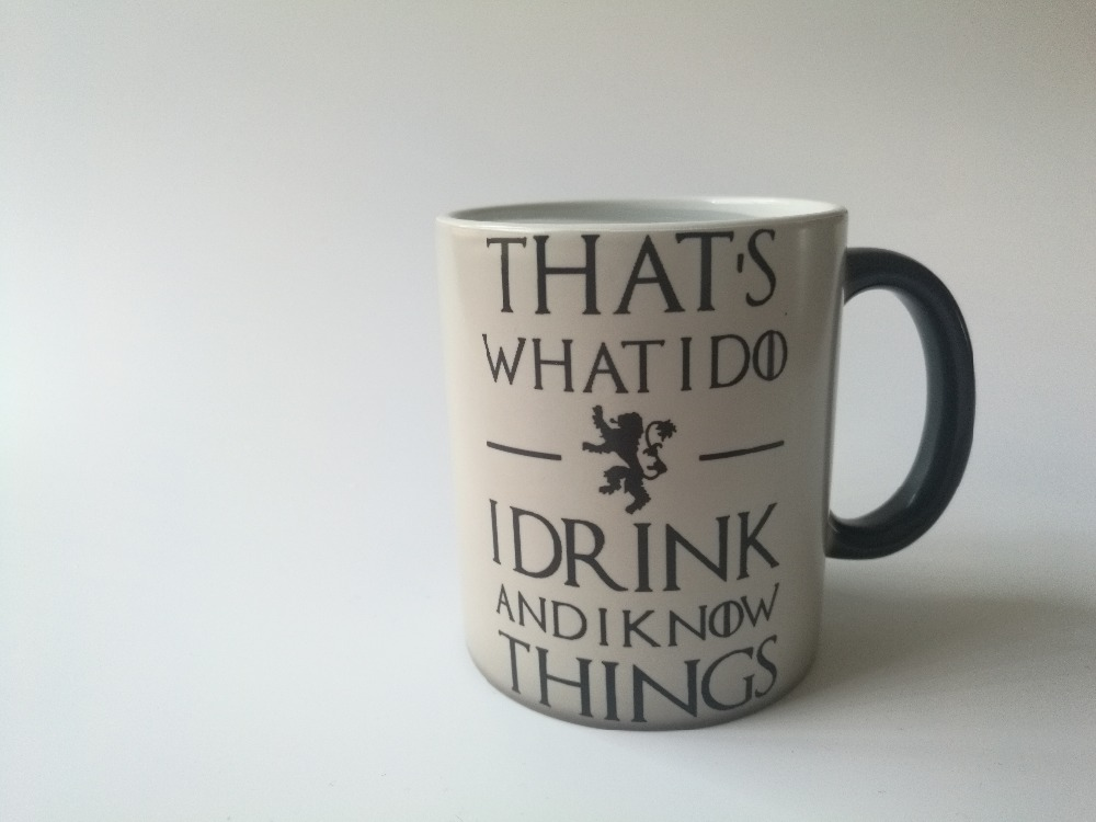 game of thrones mug i drink and i know things tyrion lannister cup coffee mugs Tea cup heat reveal mug heat changing color mugs