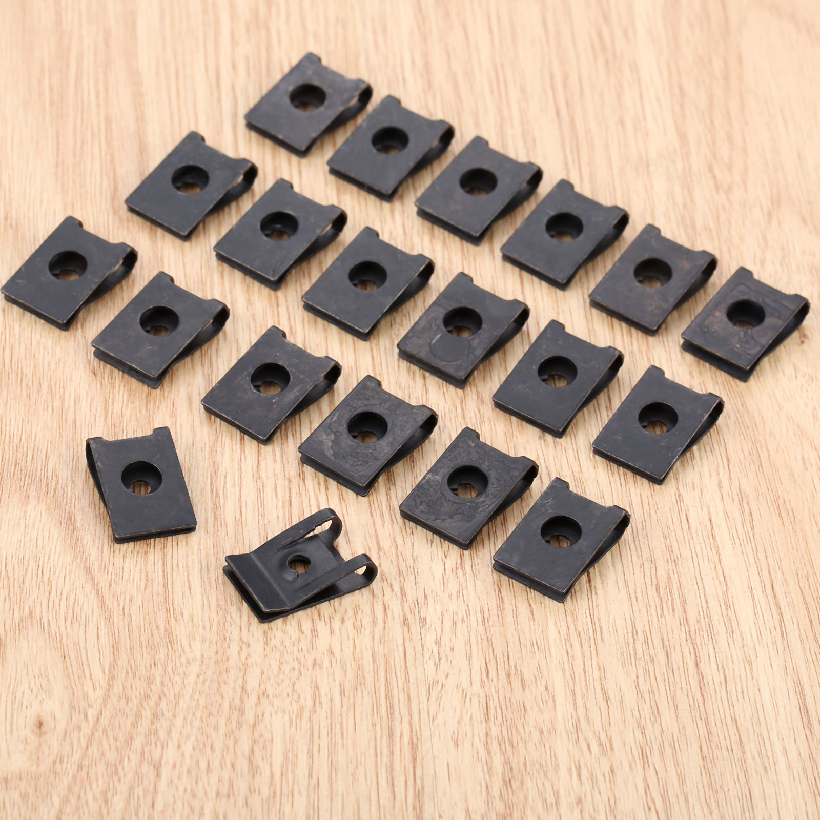 Image 3 - 20Pcs M3 Car Fastener Clip Automobile Engine Fender Bumper Guard U Type Screw Base Clips Nut Mounting Fastener Clamp-in Auto Fastener & Clip from Automobiles & Motorcycles