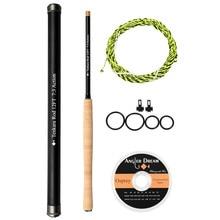 12/13FT Tenkara Fly Fishing Rod Combo 30T Carbon Fiber Fly Fishing Rod & Tenkara Line Flouorocarbon Tippet Hook Keeper