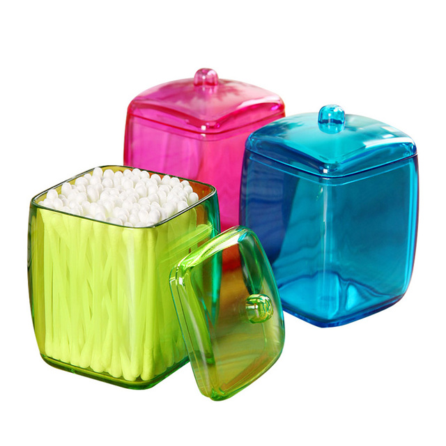 New Design Colorful Cotton Swab Box Q Tip Storage Holder Cosmetic Makeup  Tool Women Storage