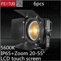 6x5600 К WW 200 Вт прожектор с линзой Френеля светодио дный Открытый 5 и 4 контакта NEUTRIK