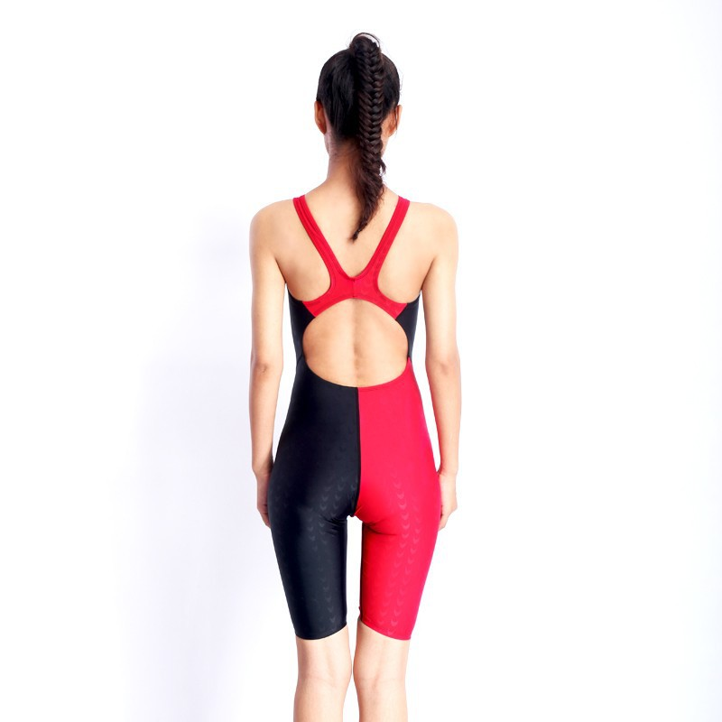 HXBY swimwear girls racing swimsuits sharkskin professional swimsuits knee one piece competition swim suits one piece 8