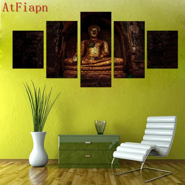 Large Modern Abstract wall art set 5 Panel Wall Art Religion Buddha ...