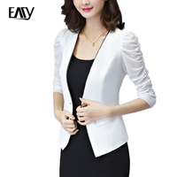 Real 2902 In Spring And Summer Dress Small White Suit Female Short Thin Coat Sleeve Suit