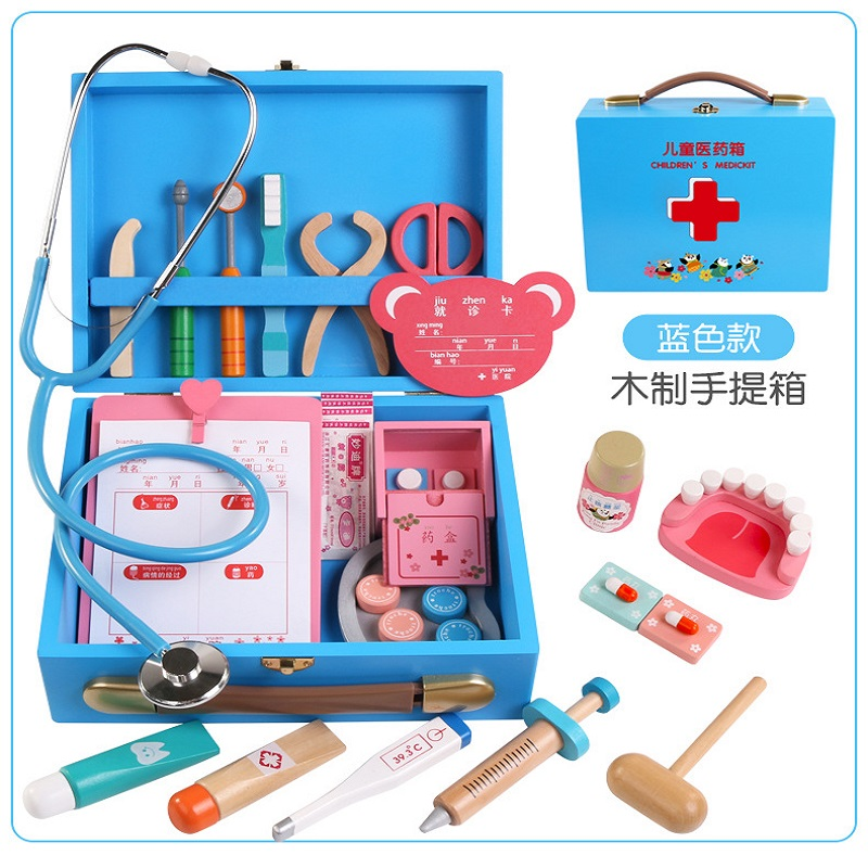Wooden Children Toy  Doctor Role Play Doctor Makes A Physician  Simulation Doctor Toy Set Early Educational Toy  Doctor Set Toys