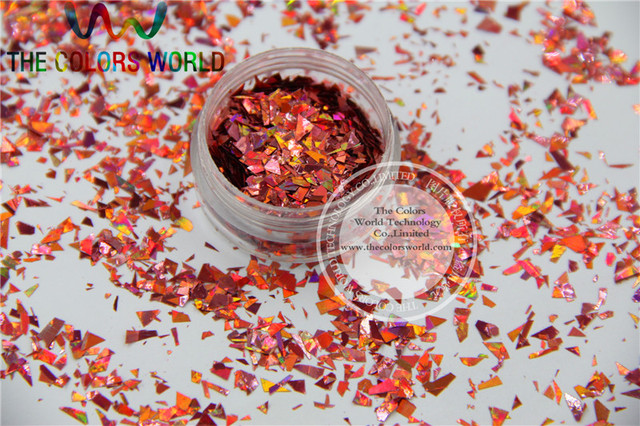 TCA911A Holographic Dark Pink Color Mylar Sheet Random Cut Size ...