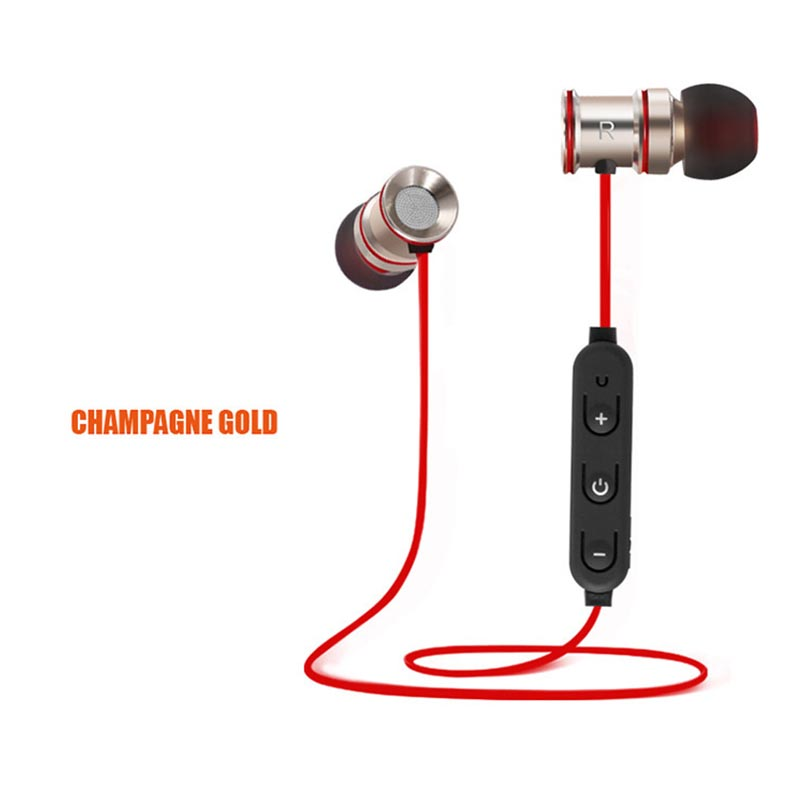 HATOSTEPED Bluetooth Wireless Headphone Sport Running Stereo Magnet Earbuds With Microphone Earphone Headset For iPhone