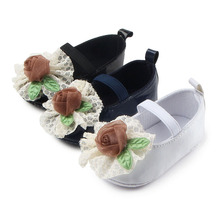 New Arrival Beautiful Flower Design Anti Slip Fancy Leather font b Baby b font Dress Shoes