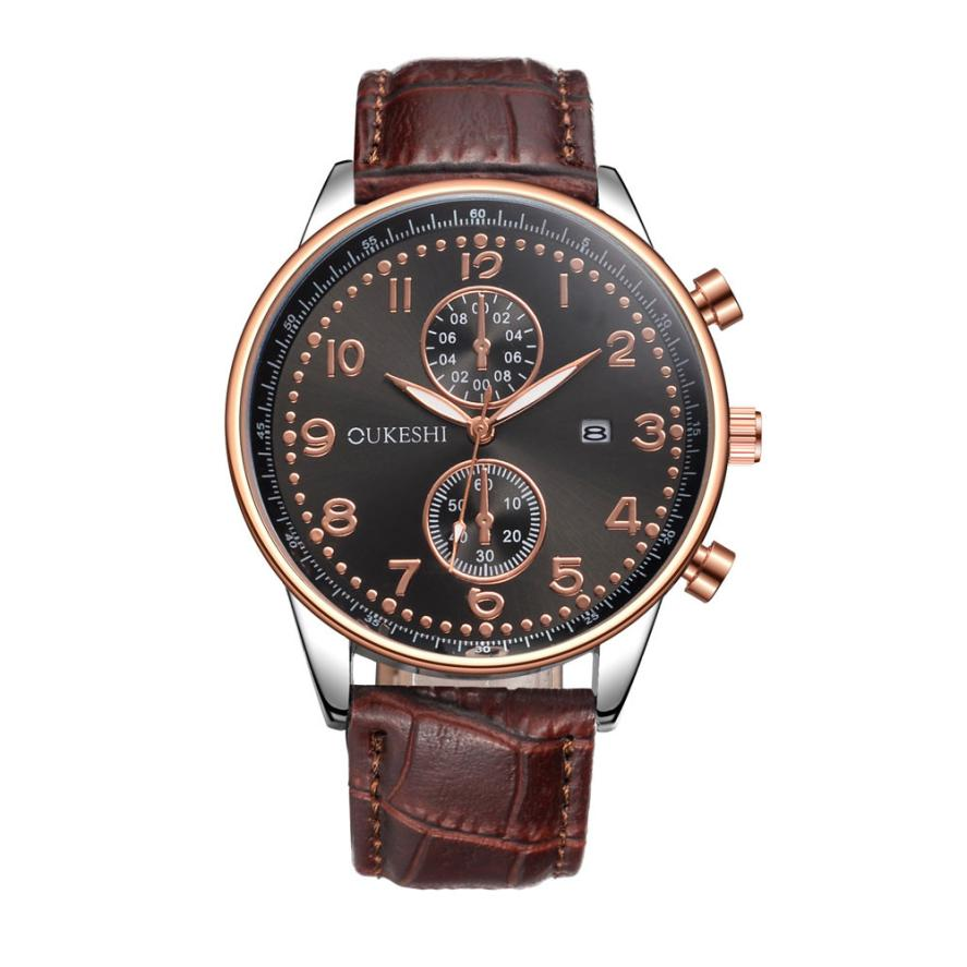 Newest Fashion Hot Sale Men Luxury Stainless Steel Quartz Military Sport Leather Band Dial Wrist Watch Dree Shipping&Wholesale new women luxury quartz sport military stainless steel dial leather band wrist watch high qulity hot maketing m2