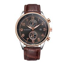 Newest Fashion Hot Sale Men Luxury Stainless Steel Quartz Military Sport Leather Band Dial Wrist Watch Dree Shipping&Wholesale
