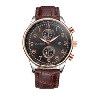 Newest Fashion Hot Sale Men Luxury Stainless Steel Quartz Military Sport Leather Band Dial Wrist Watch