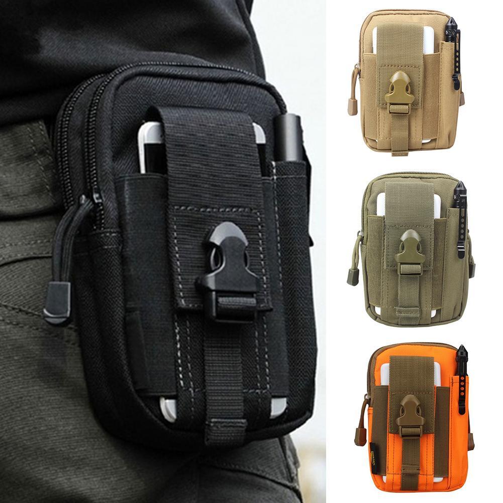 Men Outdoor Sports Army Phone Waist Belt Bag Pouch Zipper Pockets Travel Waist Fanny Pack Leg Bag