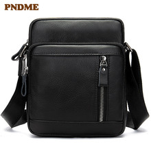 Head layer cowhide men's bag fashionable simple vertical single shoulder bag retro multifunctional cross-body bag цена в Москве и Питере
