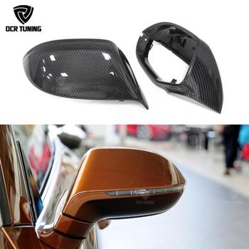 Carbon Fiber Rear View Side Mirror Cover Voor Audi A7 S7 2011 2012 2013 2014 Carbon fiber side caps 1:1 vervanging Stijl