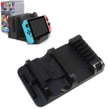 Multi-functional Charging Dock Station for Nintendo Nintend Switch NS Pro Controller w/ Storage for Dock and 6 pcs Game Card Box multi functional cell phone battery data charging dock w usb cable for blackberry z10 black