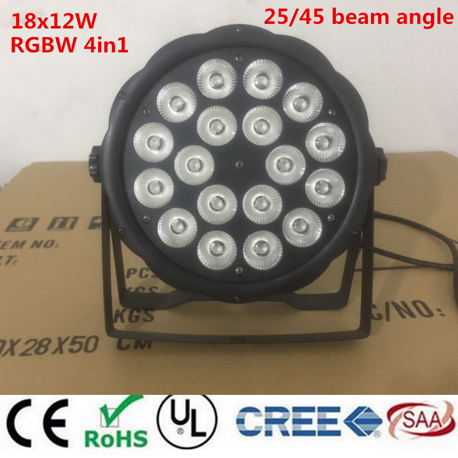 New 18X12W RGBW 4in1 16 Bit Dimming LED Par Cans Stage light Disco DJ Lighting DMX512 4/8CH