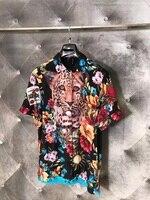 WA05751BH качество 2018 горячая Распродажа Для мужчин модный бренд сезон: весна–лето стиль рубашка новая Дизайн Для мужчин рубашки футболки; Бесп