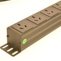 19in 1U 10A 6 Units Australian PDU with air switch Power Strip Network Cabinet Rack Outlet AS NZ Socket Power Distribution