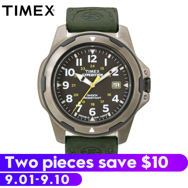 2b6c87cf9930 2018 For Timex Original Mens Watches Expedition Rugged Field Metal T49271  Outdoor Sport Multi-function Waterproof Quartz Men