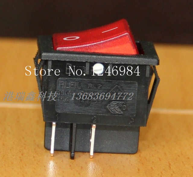KANGIRU Nuevo AC250V Control de alimentaci/ón a trav/és del Interruptor basculante Encendido-Apagado DPST Interruptor de Cable en l/ínea para luz de Escritorio L/ámpara de Mesa para Dormitorio