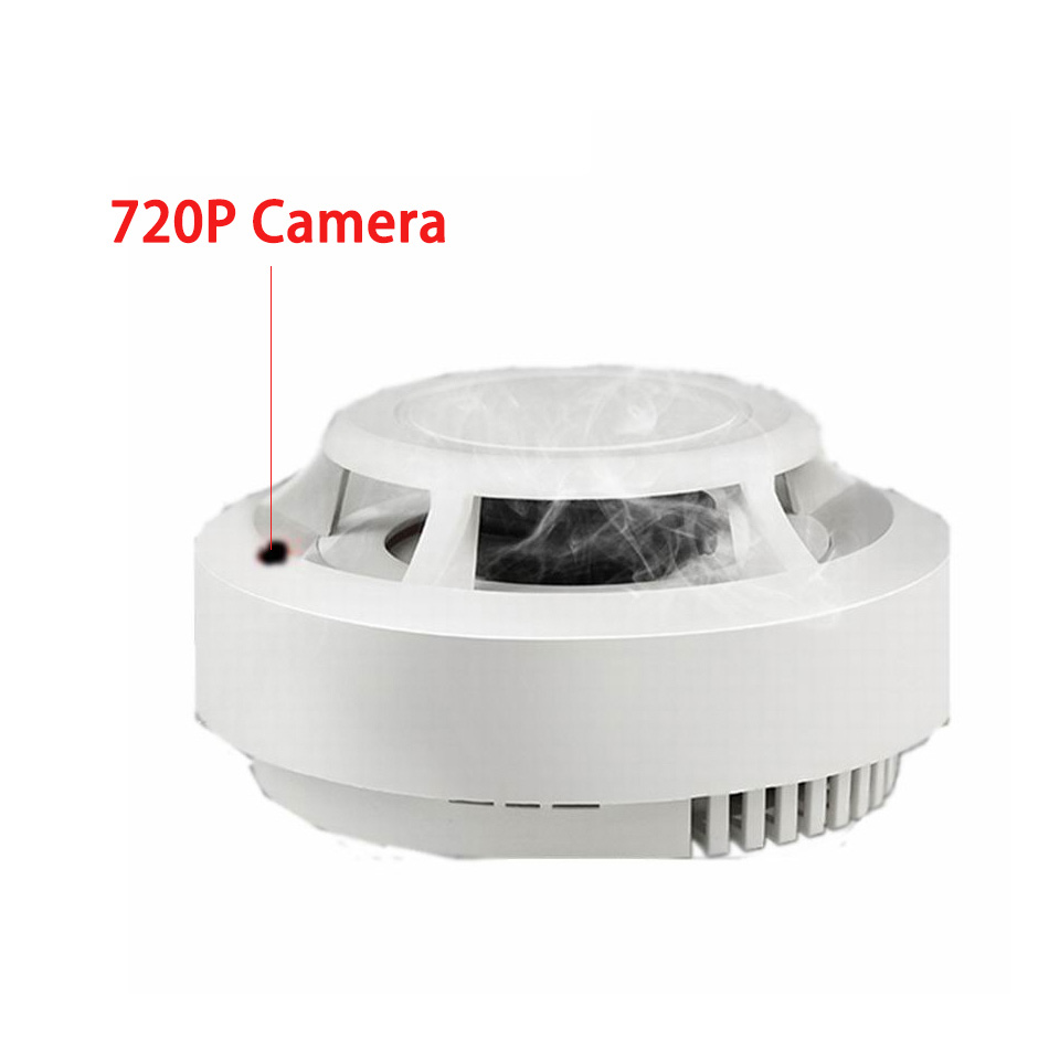 720P 4K Wifi Wireless Camera Smart Smoke Sensor Detector 360 Degree Rotation Monitor Anti-fires Camera Detector Security Alarm(China)