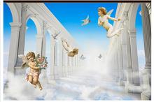 Custom photo wallpaper 3d tv wallpaper murals angel 3 d heaven murals photo wall beauty living room wallpaper decoration