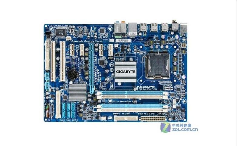 Gigabyte ga-ep43t-s3l Оригинал материнская плата ep43t-s3l DDR3 LGA 775 P43 рабочего Материнская плата Бесплатная доставка