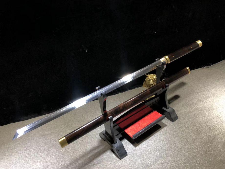 Actief Handgemaakte Chinese Kung Fu Sword Sharp H65 T10 Clay Gehard Staal Wushu Jian Ebbenhouten Handvat Schede Volledige Tang Kan Worden Cut Bamboe