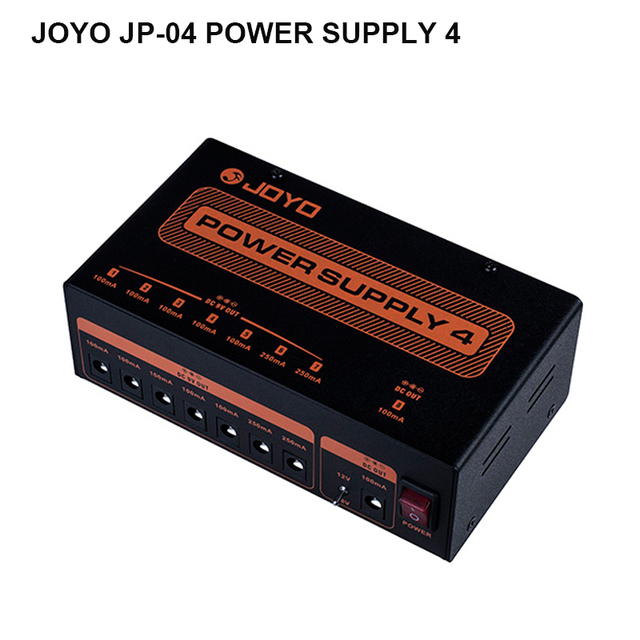 Cheap JOYO JP-04 Guitar Effect Pedal Power Supply 8 Independent 9V 12V 18V Output Power Adapter Guitar Accessories free shipping