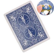 Фантазия толкать сигару через игральные карты сигару через карты Волшебные трюки волшебные игрушки коллекционные игрушки подарок для детей 8,5*6 см