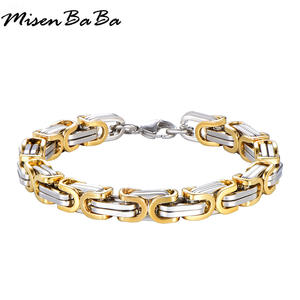 Stainless Steel Bracelet & Bangle Bracelet Men Jewelry 220mm Fashion Male Accessory Wholesale Charm Cuban Links Chain Wristband